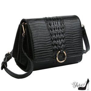 My Bag Lady Online Bags - Croc Embossed Crossbody Bag